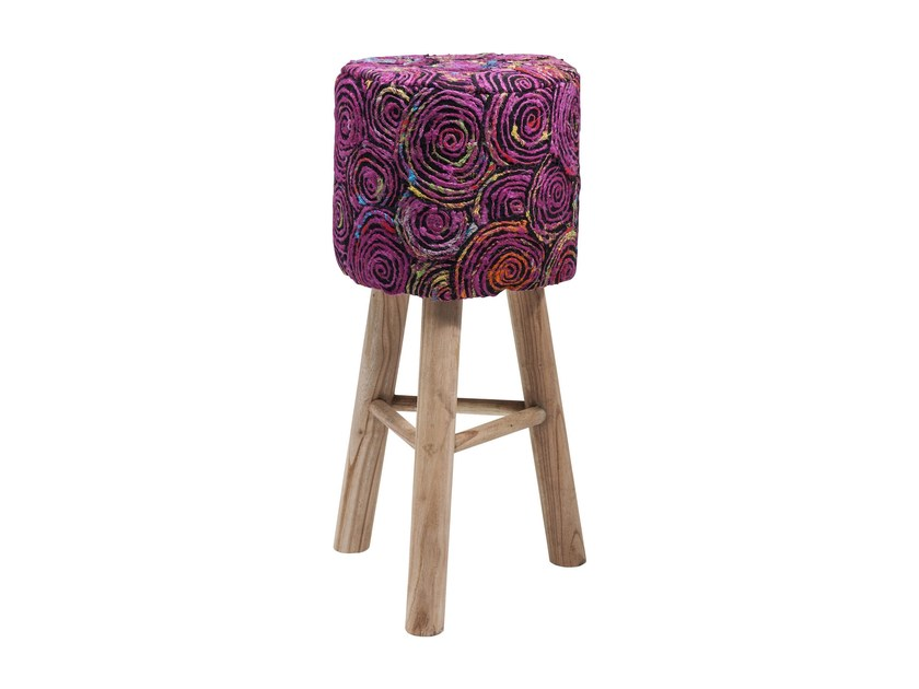 Low barstool with footrest SUNSET PINK by KARE-DESIGN