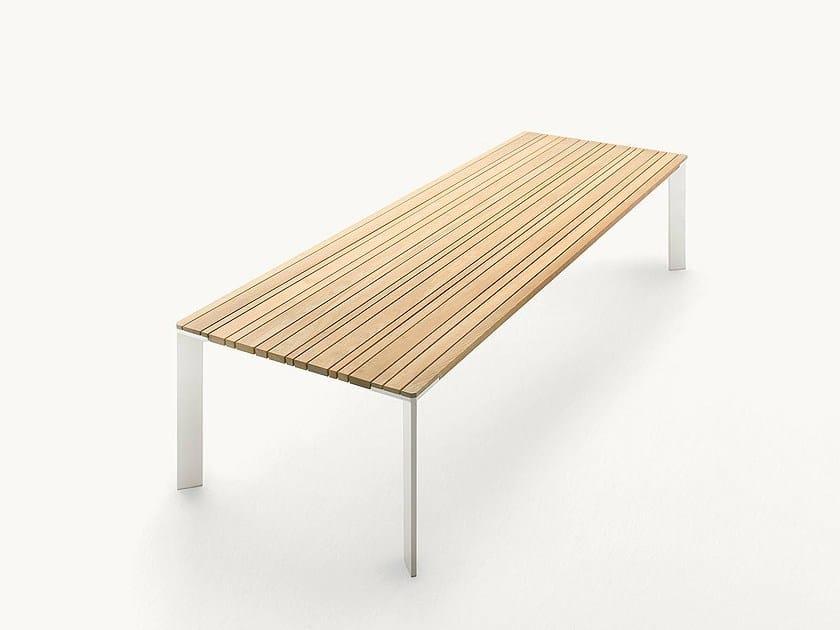 Rectangular wooden garden table SUNSET | Rectangular table by paola lenti