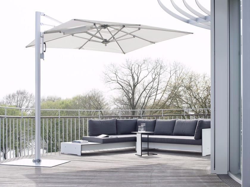 Offset rectangular Garden umbrella SUNSHADE LOUNGE by conmoto