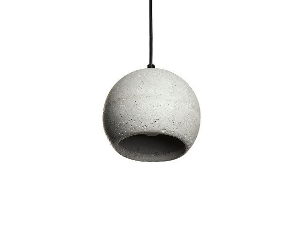 Concrete pendant lamp SUPERFLY C by URBI et ORBI