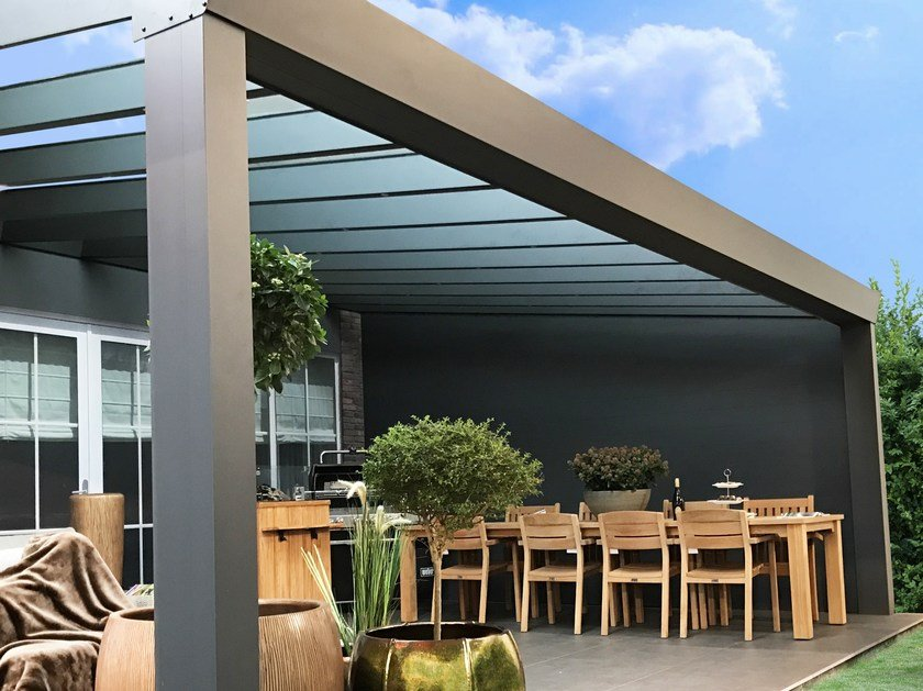 Wall-mounted glass pergola SUPERIOR by Gardendreams