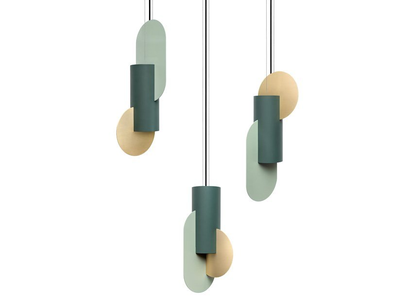 Luminária pendente LED de metal SUPREMATIC CS5 THREE LAMP SET by NOOM