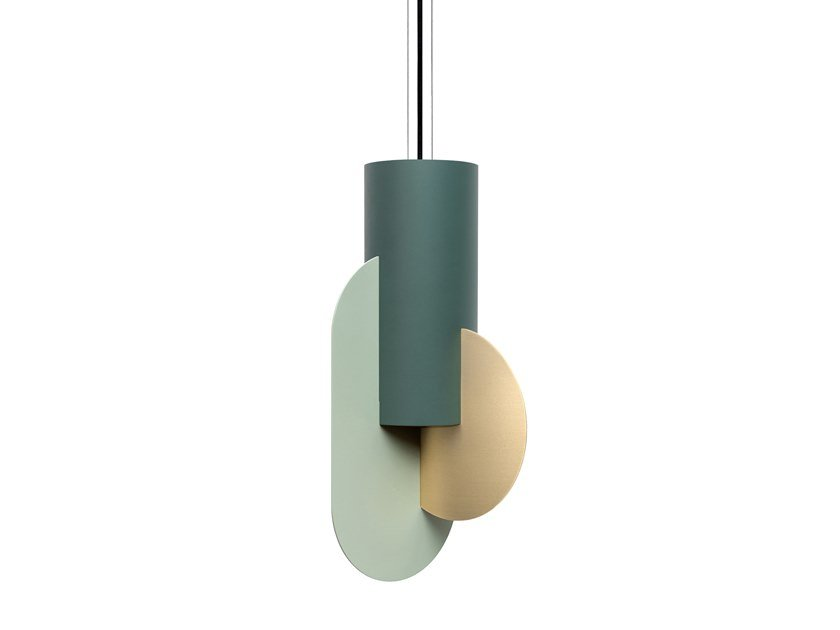 LED brass pendant lamp SUPREMATIC THREE CS5 by NOOM