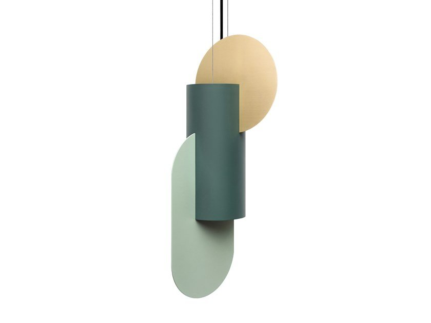 LED brass pendant lamp SUPREMATIC TWO CS5 by NOOM
