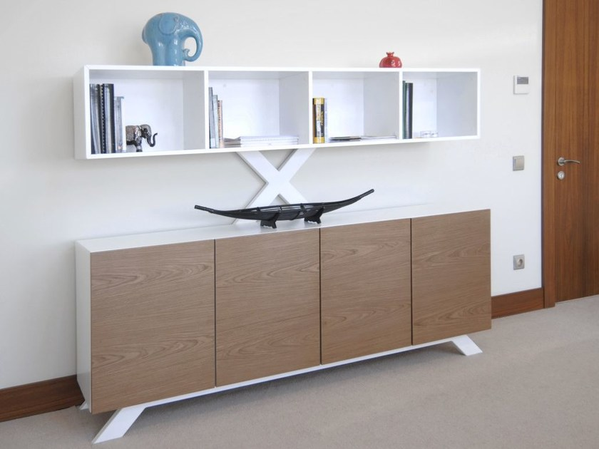 Wood veneer office storage unit SURA | Office storage unit by Tuna Ofis