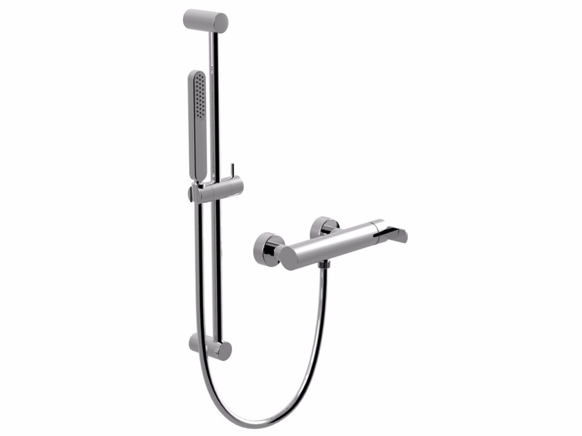 Single handle shower mixer with hand shower SURF - F5808WS by Rubinetteria Giulini