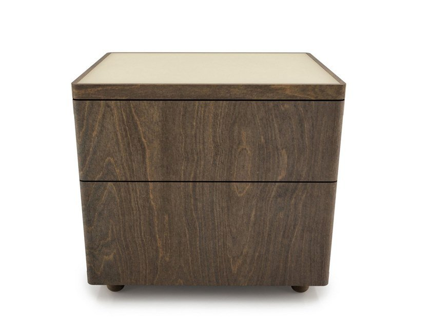 Birch bedside table with drawers SURFACE | Bedside table by Huppé