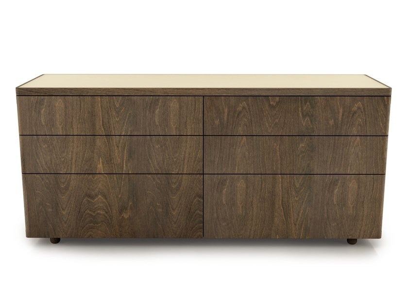 Birch chest of drawers with integrated handles SURFACE   Chest of drawers by Huppé