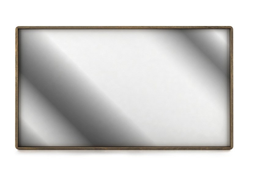 Rectangular framed wall-mounted mirror SURFACE | Wall-mounted mirror by Huppé