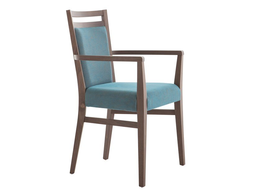 Upholstered beech chair with armrests SURI SOFT 472FP.i4 by Palma