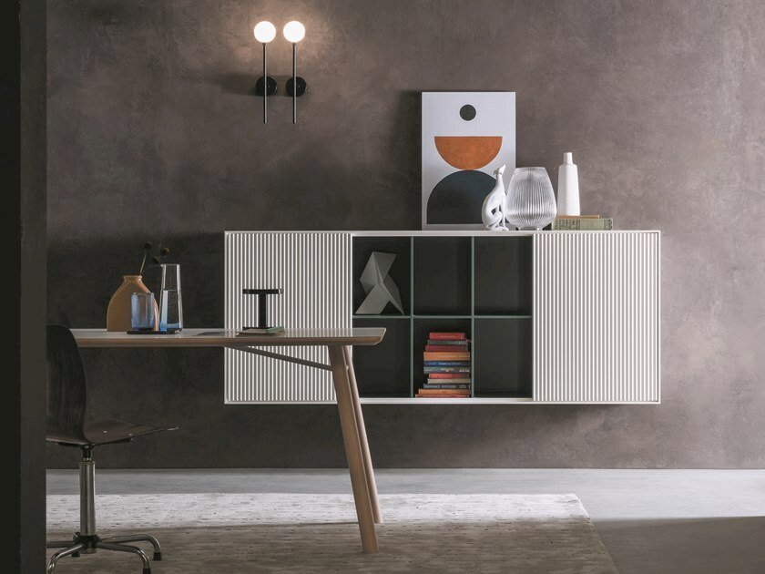 Lacquered sideboard with sliding doors ATENEO | Suspended sideboard by Capo d'Opera