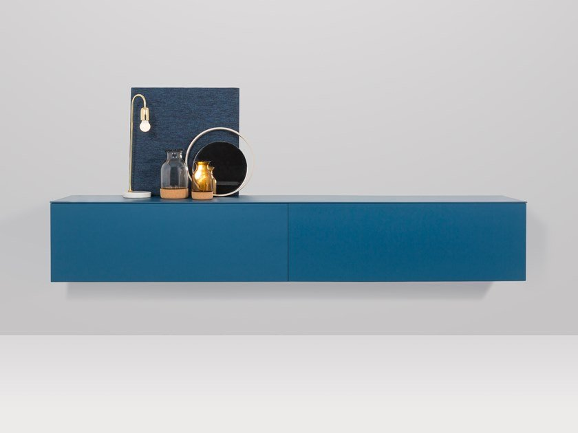 Suspended MDF sideboard with doors HANNOVER | Suspended sideboard by Recor Home