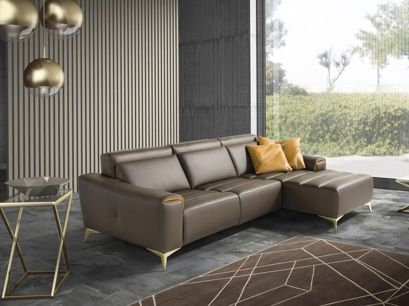Sectional sofa with chaise longue SUZETTE | Sectional sofa by Egoitaliano