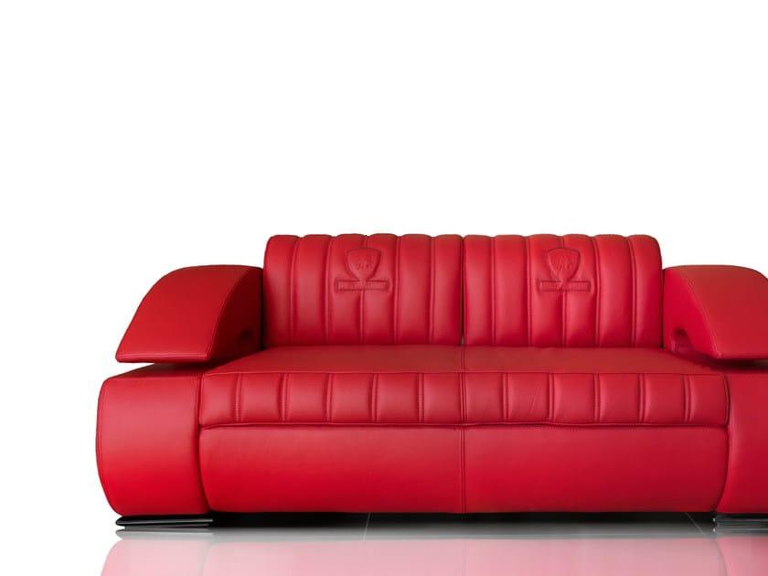 Upholstered 3 seater leather sofa SUZUKA   Sofa by Tonino Lamborghini Casa