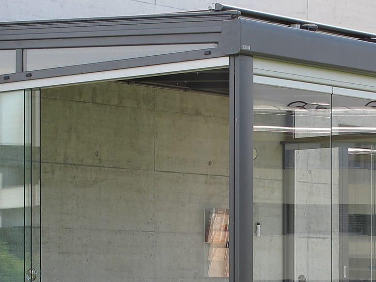 Sliding glass facade SV1020 | Glass facade by STOBAG