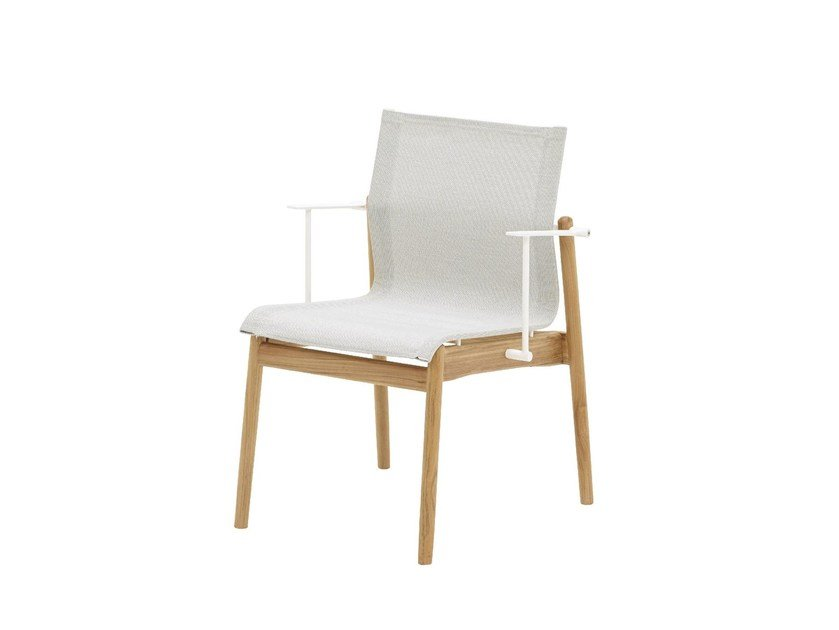 Garden chair with armrests SWAY TEAK | Chair with armrests by Gloster