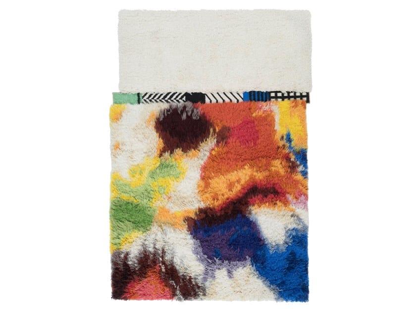 Handmade rectangular rug SWAZI by cc-tapis