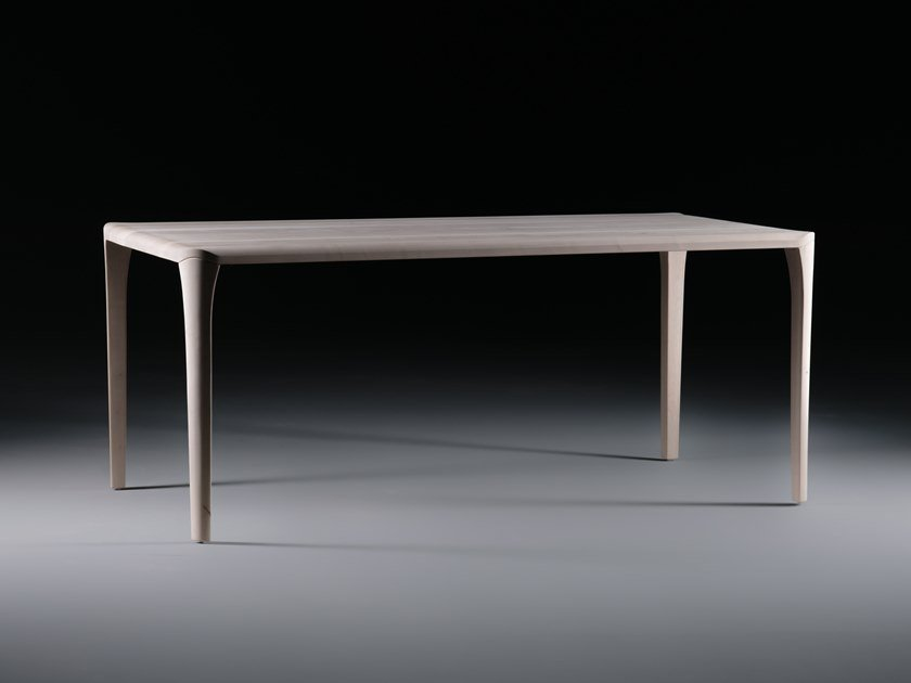 Rectangular solid wood table SWEL by Artisan