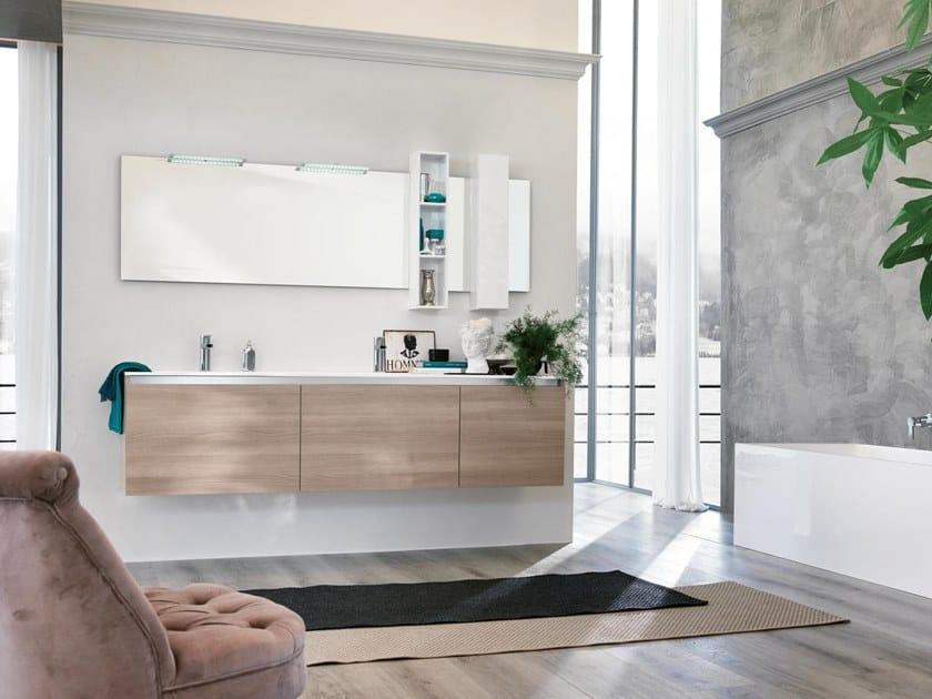 Mobile lavabo sospeso con specchio SWING 02 by BMT