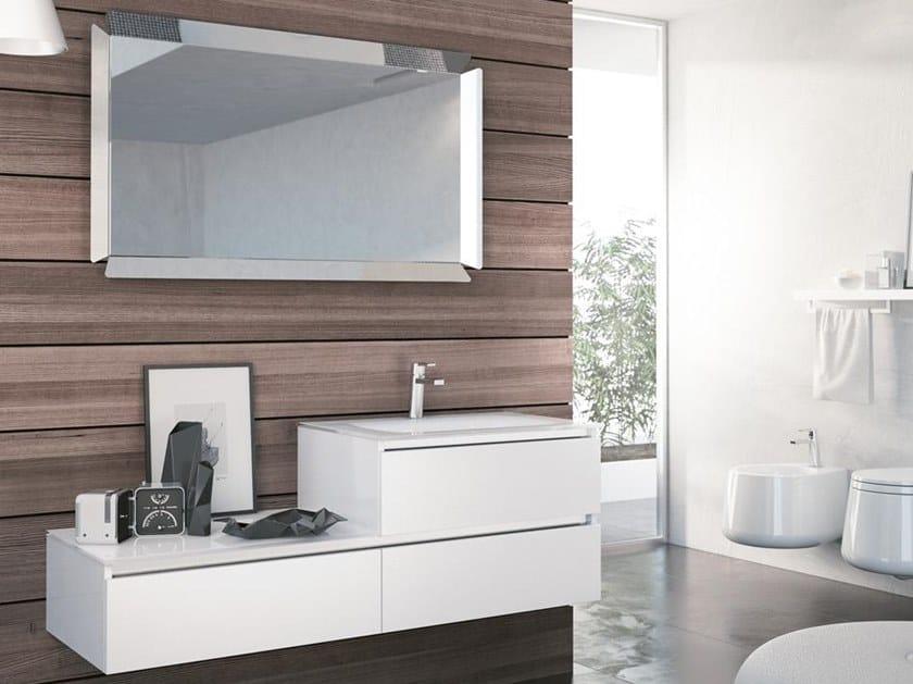 Mobile lavabo sospeso con specchio SWING 13 by BMT
