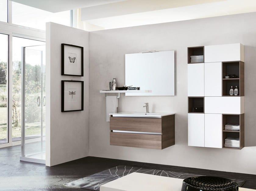 Mobile lavabo sospeso con specchio SWING 14 by BMT