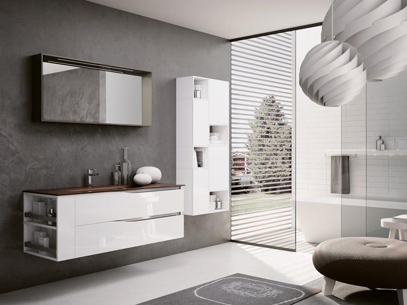 Mobile lavabo sospeso con specchio SWING 15 by BMT