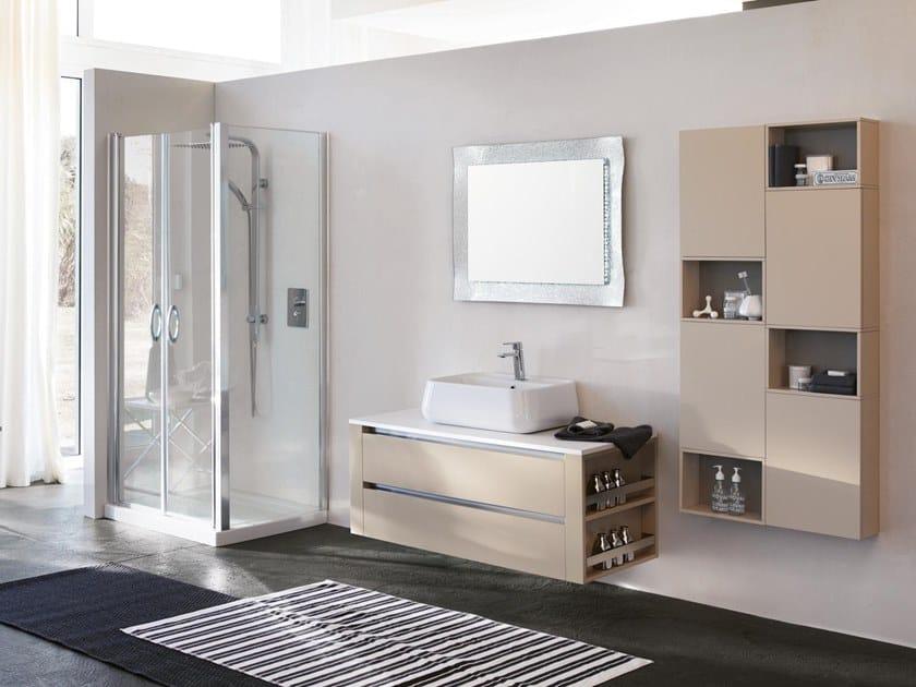 Mobile lavabo sospeso con specchio SWING 16 by BMT