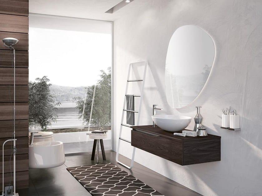Mobile lavabo sospeso con specchio SWING 22 by BMT