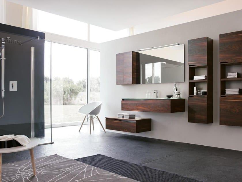 Mobile lavabo sospeso con specchio SWING 27 by BMT