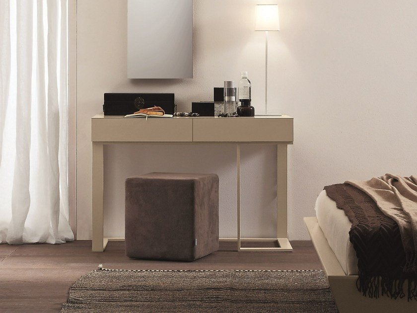 Rectangular wooden console table with drawers SWING by Presotto