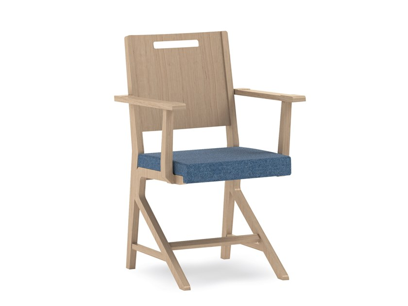Fabric chair with armrests SWING | HEALTH & CARE | Chair with armrests by PIAVAL