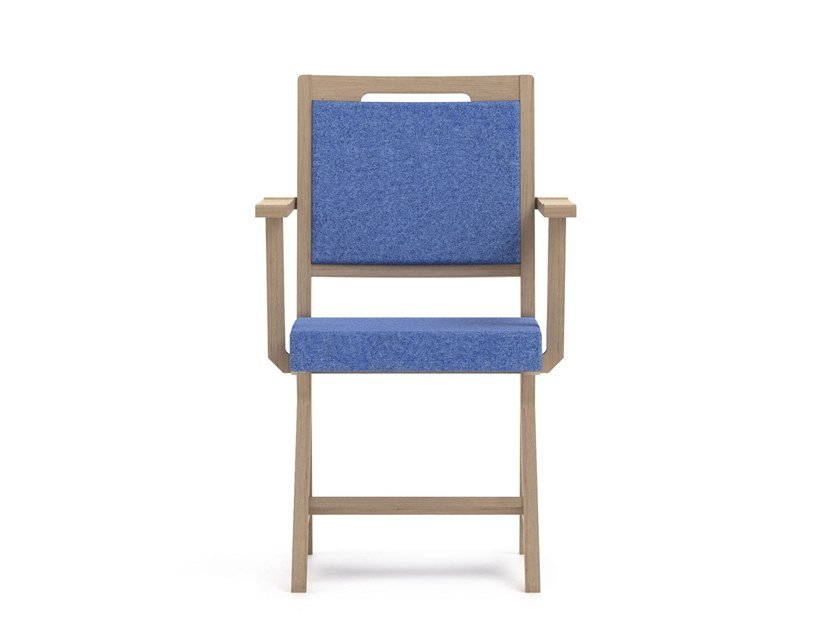 Fabric chair with armrests SWING | HEALTH & CARE | Fabric chair by PIAVAL
