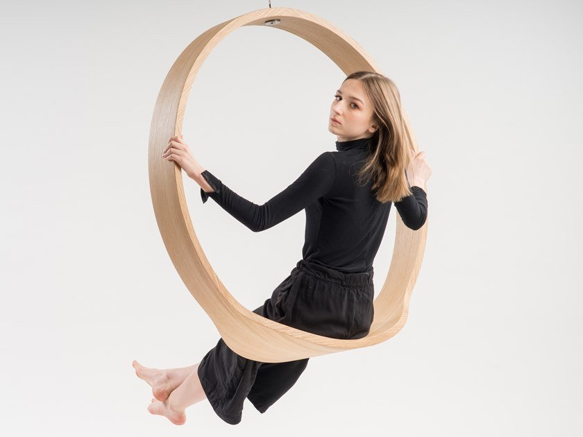 Swing wooden armchair SWING N.1 | Wooden armchair by Iwona Kosicka Design