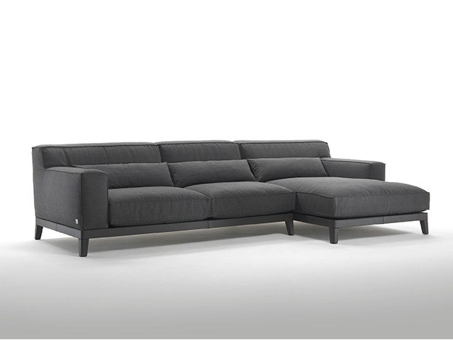 Sofa with chaise longue SWING | Sofa with chaise longue by Busnelli
