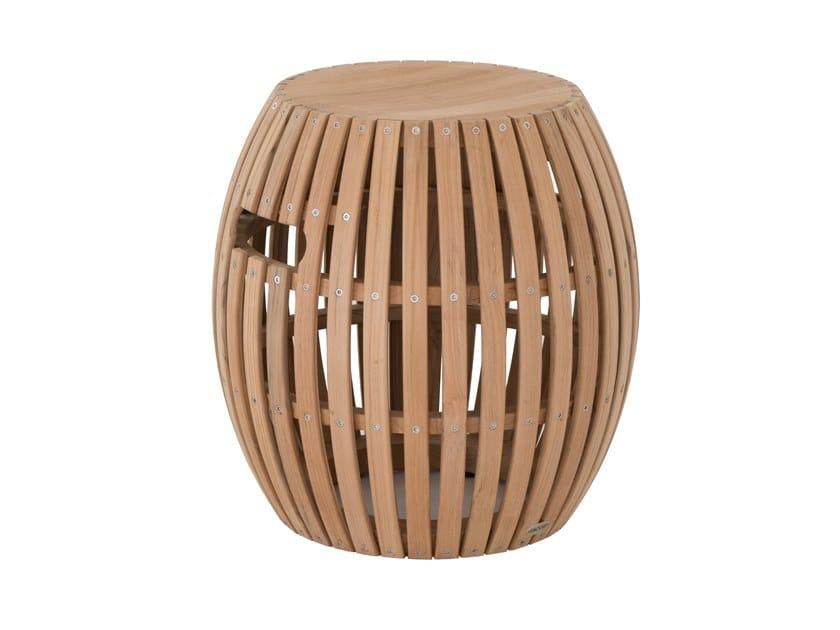 Low teak garden stool SWING | Stool by Unopiù