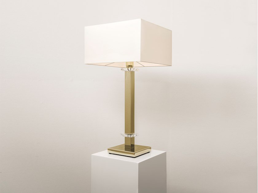Direct-indirect light metal table lamp with Swarovski® crystals SWINGING BALLET T1 | Table lamp with Swarovski® crystals by ILFARI