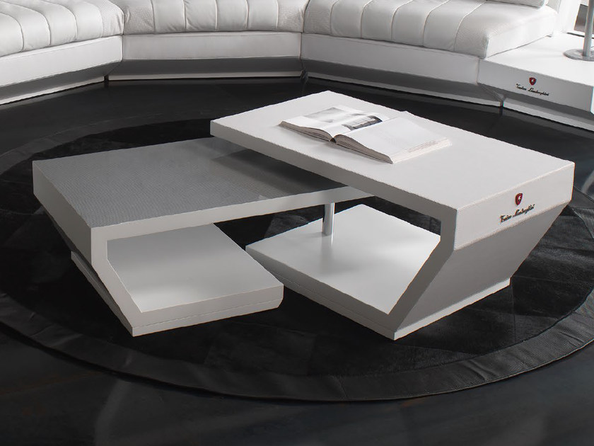 Low swivel leather coffee table VALENCIA | Swivel coffee table by Tonino Lamborghini Casa