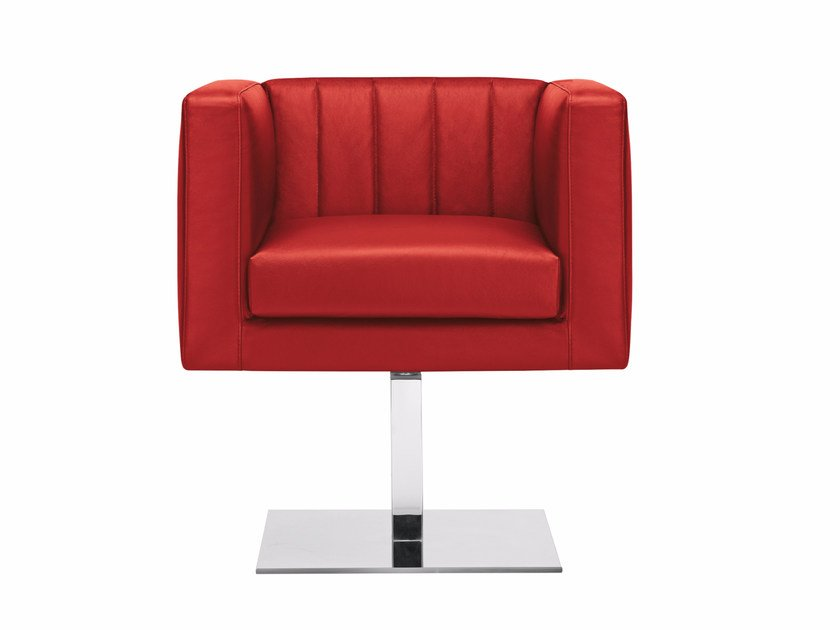 Swivel upholstered easy chair with armrests YOU3 | Swivel easy chair by Luxy