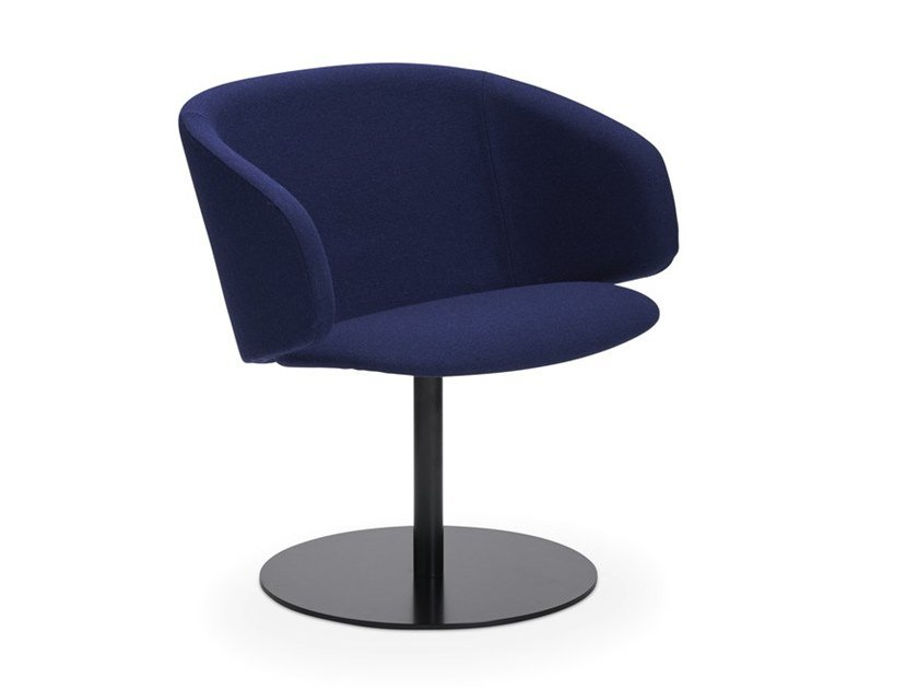 Swivel fabric easy chair with armrests SOLA | Swivel easy chair by Martela