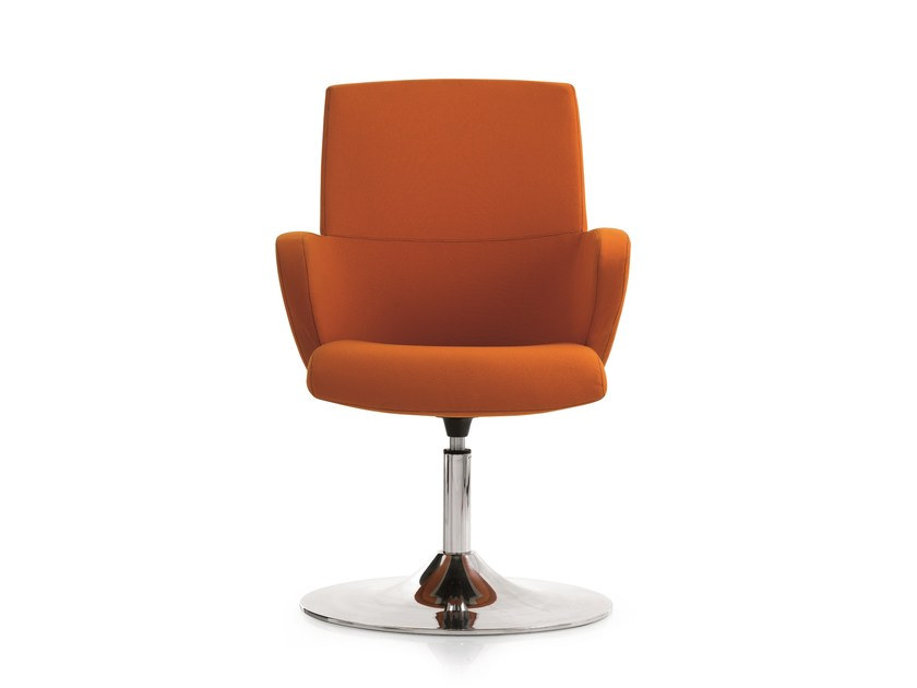 Fabric executive chair with armrests FORMAT | Swivel executive chair by Emmegi