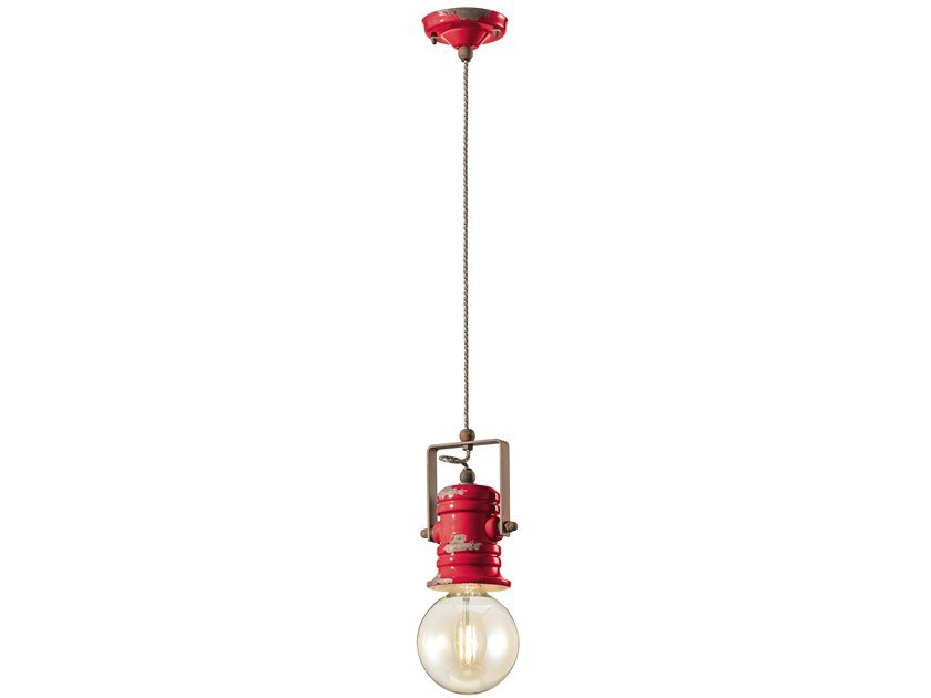 Swivel ceramic pendant lamp URBAN | Swivel pendant lamp by FERROLUCE