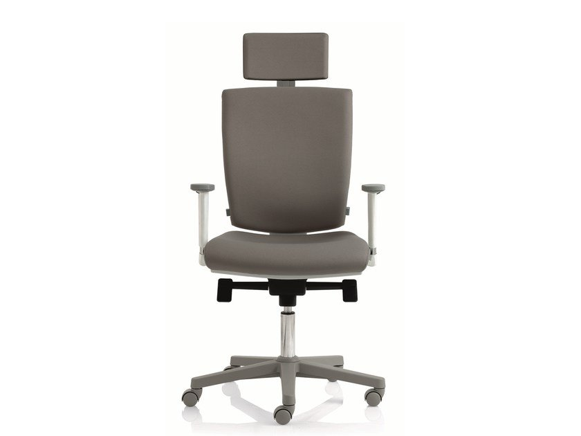 Swivel task chair with 5-Spoke base with armrests EM59 | Swivel task chair by Emmegi