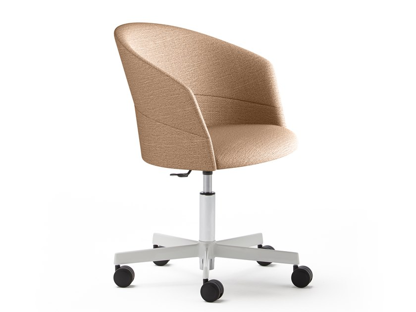 Upholstered chair with 5-spoke base with castors COPA | Chair with 5-spoke base by Viccarbe