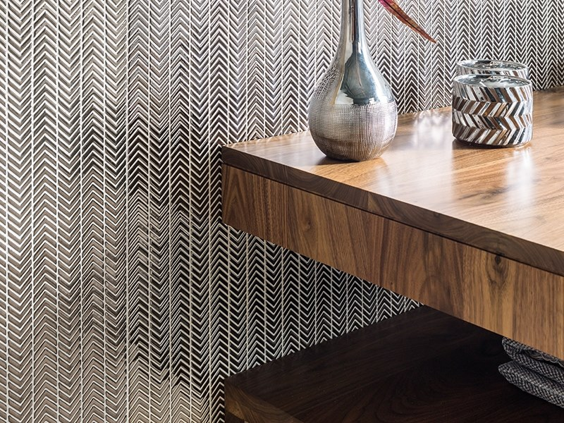 Wall tiles with metal effect SYDNEY SILVER by Venis