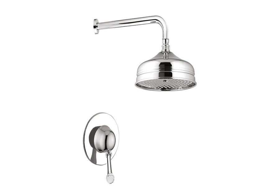 2 hole shower mixer with overhead shower SYMPHONY - 4315WB by Rubinetteria Giulini