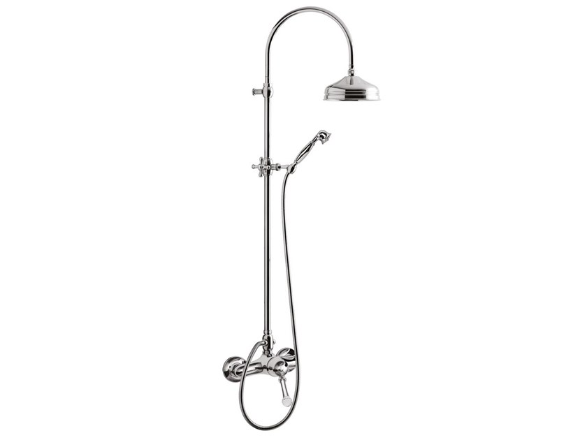Wall-mounted shower panel with hand shower SYMPHONY - F4308SWC-S by Rubinetteria Giulini