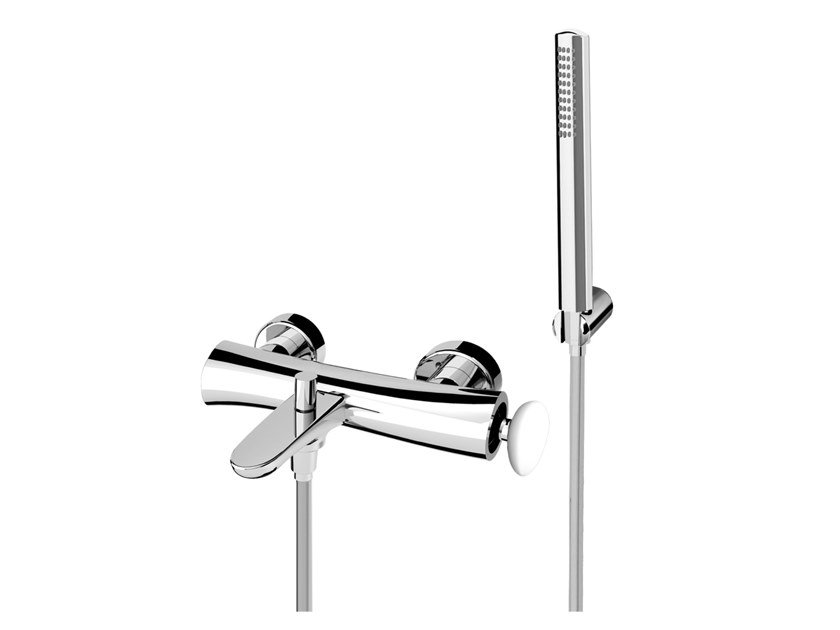 Brass bathtub mixer with diverter with hand shower SYNERGY