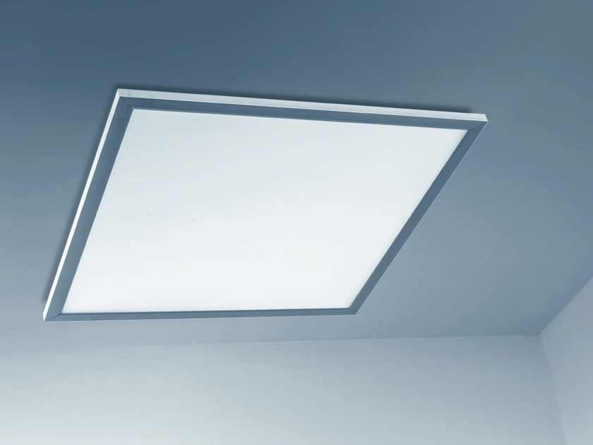 LED direct-indirect light acrylic glass Lamp for false ceiling SYNTO by PLEXIFORM