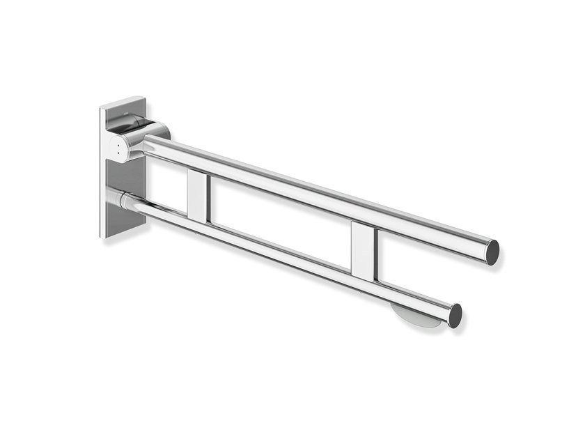 Folding stainless steel toilet grab bar SYSTEM 900 | Grab bar by HEWI