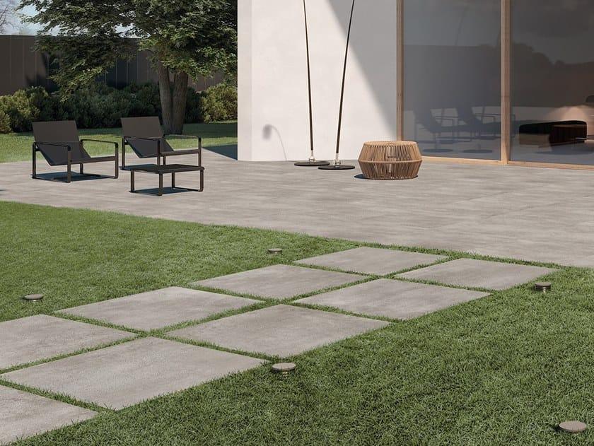 Porcelain stoneware outdoor floor tiles SYSTEM L2 by LEA CERAMICHE